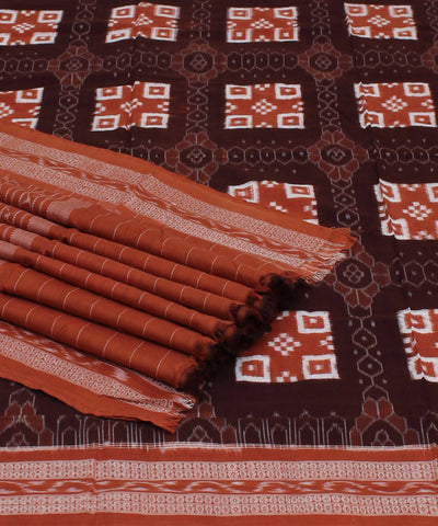 Coffee Brown Handloom Pasapalli Cotton Saree