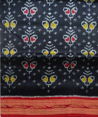 Black Handloom Khandua Ikat Silk Saree