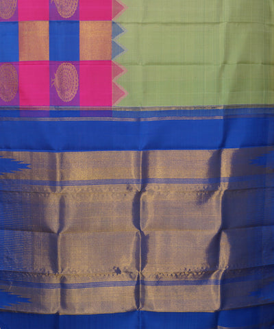 Thirubhuvanam Pure Zari Multicolored Silk Saree