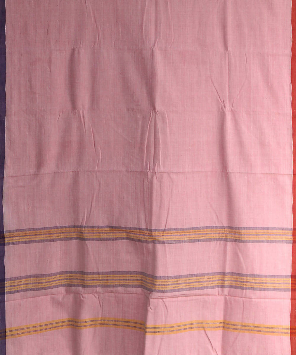 light pink khadi handwoven cotton saree