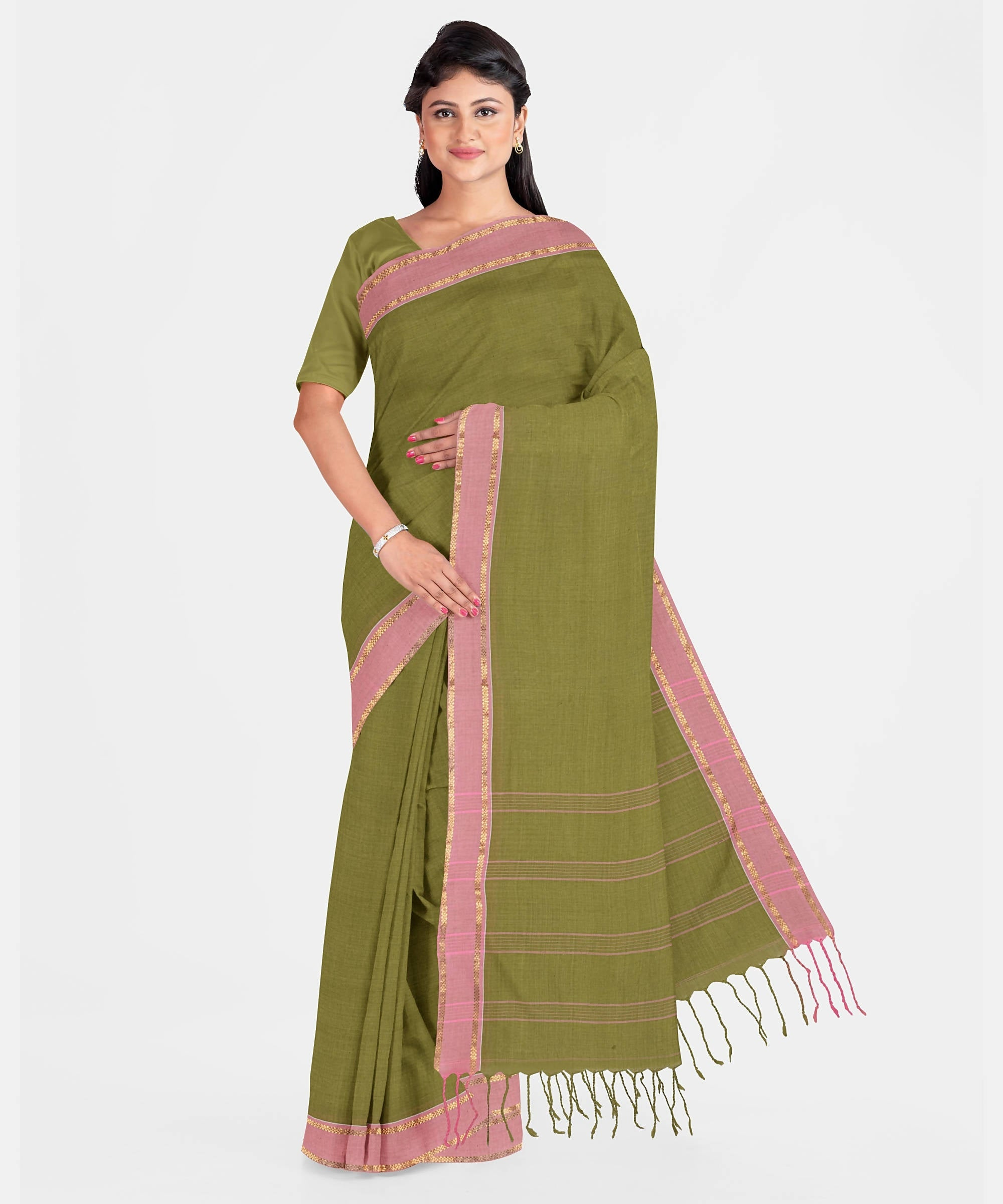 Biswa Bangla Handwoven Santipuri Saree