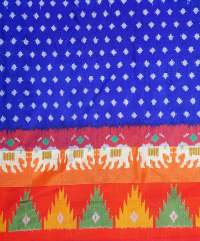 Dark blue handloom pochampally silk saree