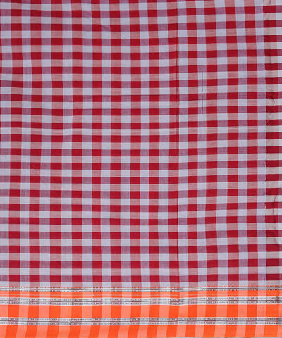 red grey checks ilkal handwoven gomi dadi border saree