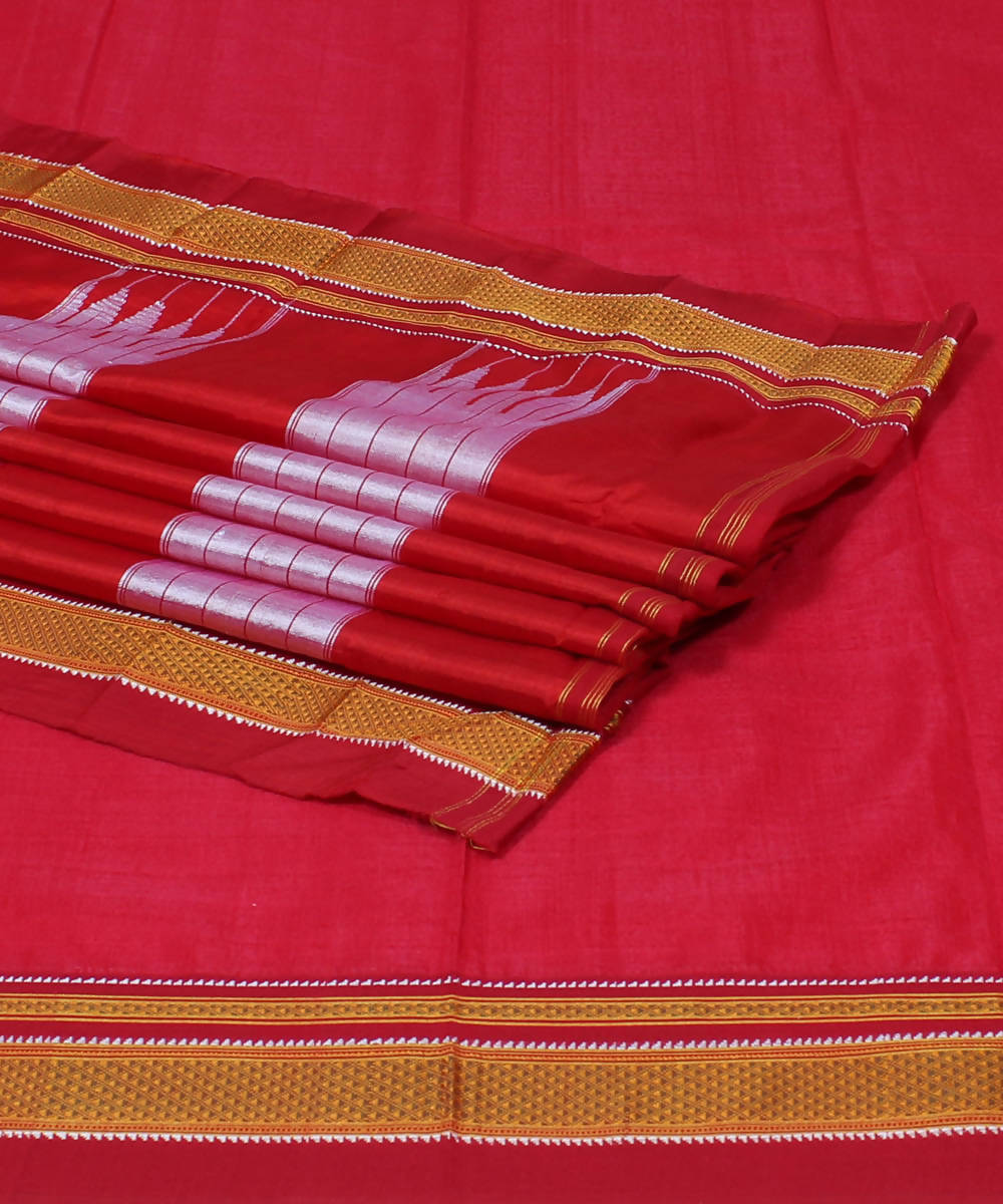 Handloom Red Ilkal Saree