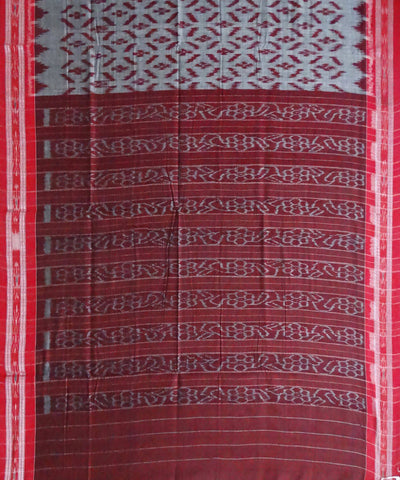 Dark Grey Nuapatna Cotton Handloom Saree