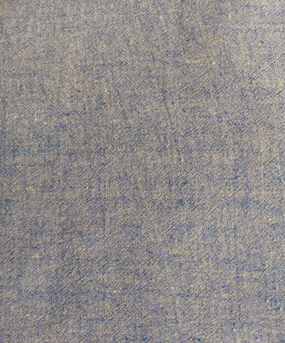 blue yellow yarn dyed handspun cotton handwoven fabric (10m per quantity)