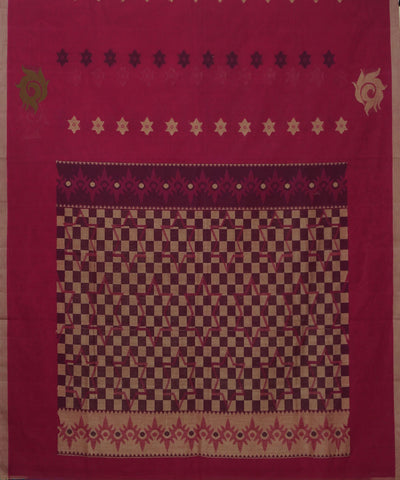 Pink Handwoven Vadambacherry Cotton Saree