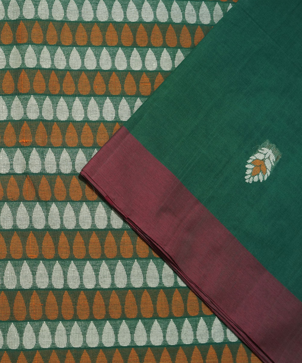 Dark Green Handwoven Vadambacherry Saree