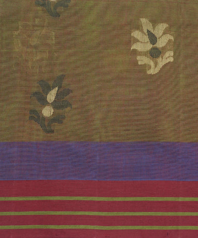 Moss Green Handwoven Vadambacherry Saree