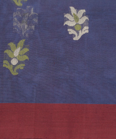 Blue Purple Handwoven Vadambacherry Saree