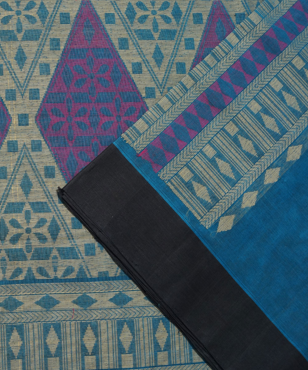 Bright Blue Handwoven Vadambacherry Saree