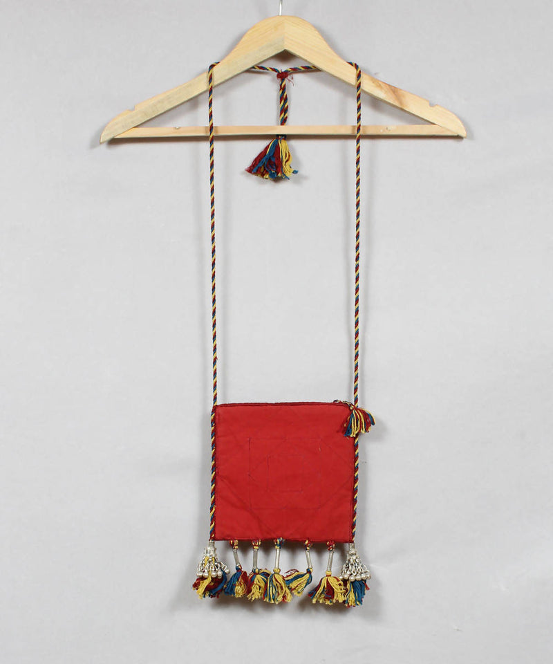 Multi Color Lambani Embroidery Sling Bag