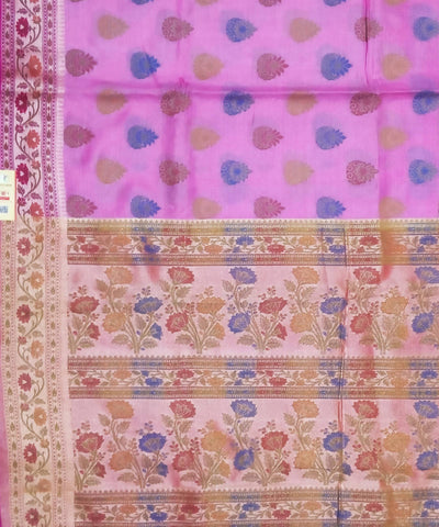 Banarasi Lilac Purple Handwoven Silk Saree