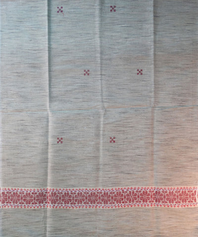 Exclusive Cream and Red Tussar Shawl