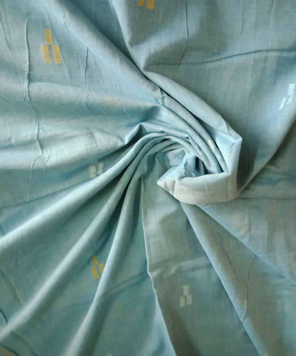 handloom light blue muslin jamdani fabric (11m per quantity)