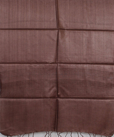 Coffee Brown Handloom Tussar Silk Stole