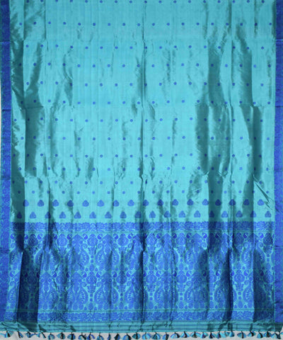 Light Blue Handloom Assam Silk Saree