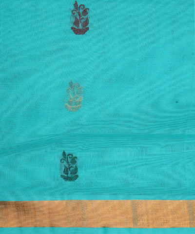 Venkatagiri Handloom Sky Blue Cotton Saree