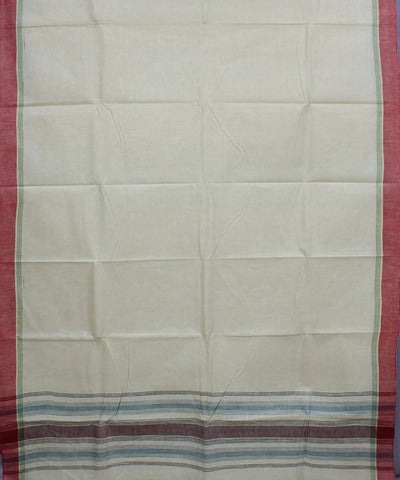 Handspun Khadi Cream Cotton Handloom Saree