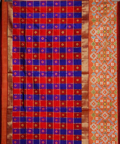 Multi Color Handloom Pochampally Silk Saree