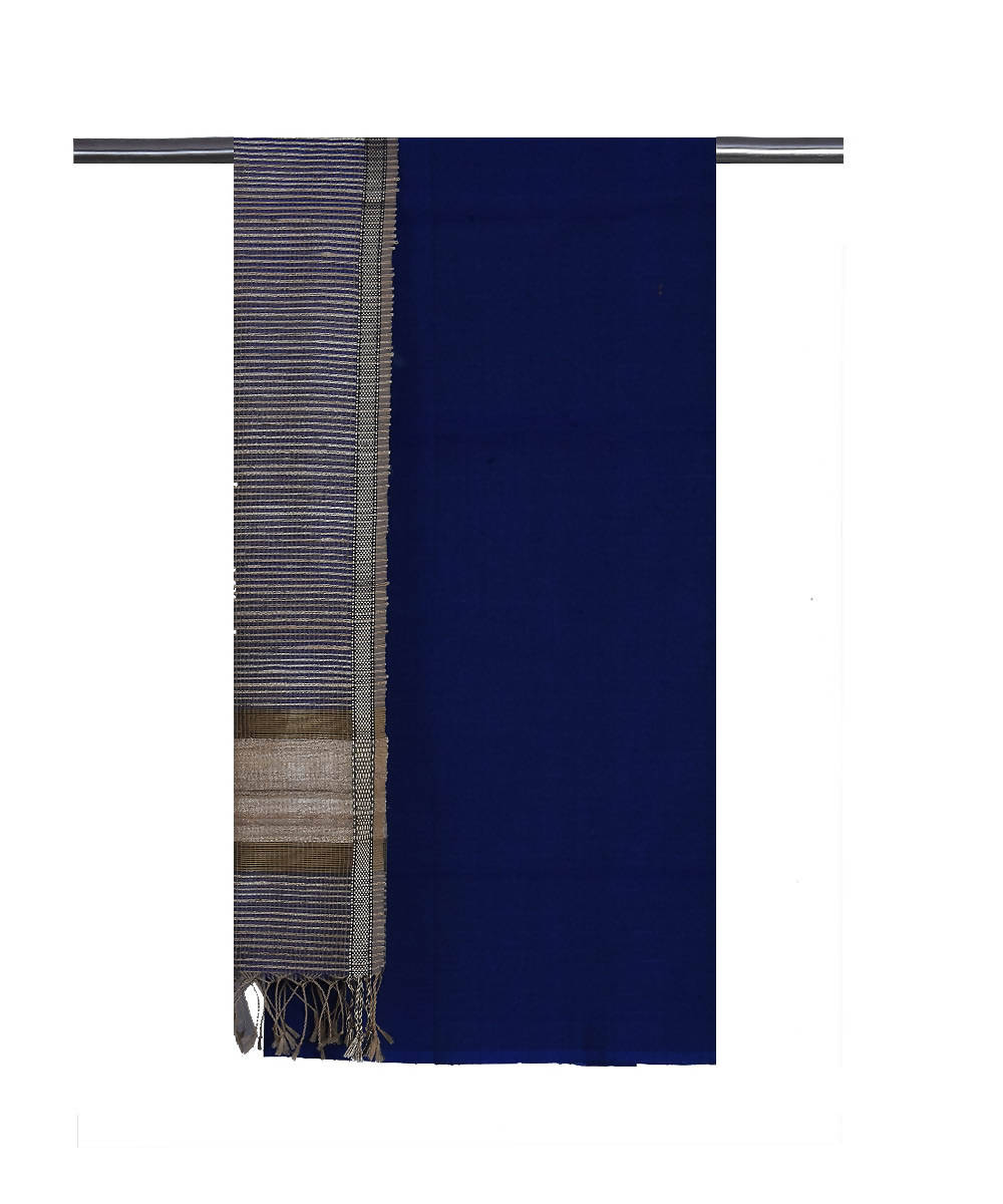Maheshwari Handloom Navy Blue Dress Material