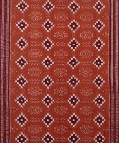 Coral Maroon Pasapalli Handloom Cotton Saree