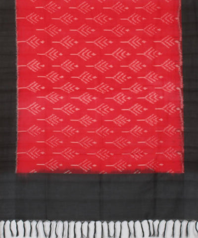 Red Pochampally Handwoven Cotton Dupatta