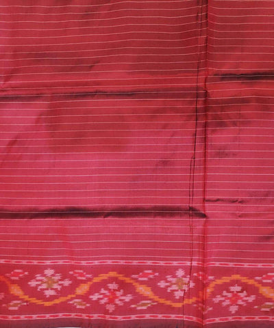 Multicolor striped handloom pochampally ikat silk saree