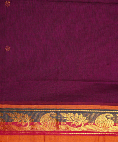 Purple Handwoven Venkatagiri Cotton Saree