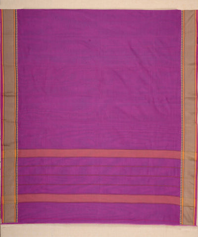 Purple daily wear Kanchi Cotton Saree