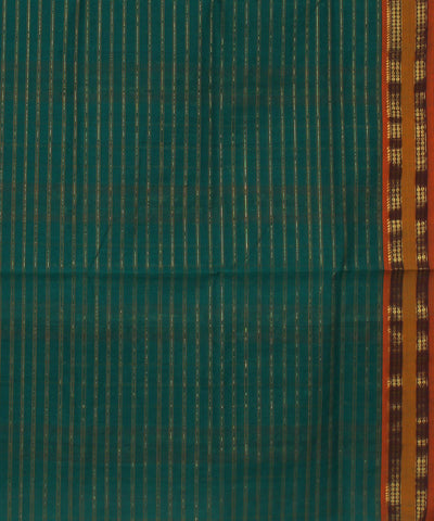 Handloom Teal Green Chirala Cotton Saree