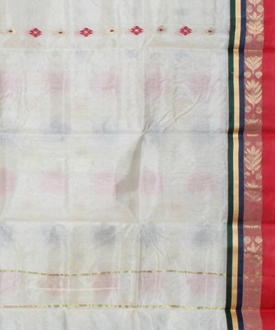 White Bengal Handloom Cotton Saree