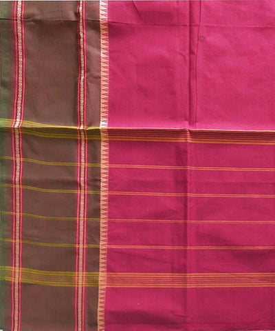 Venkatagiri handwoven cotton pink saree