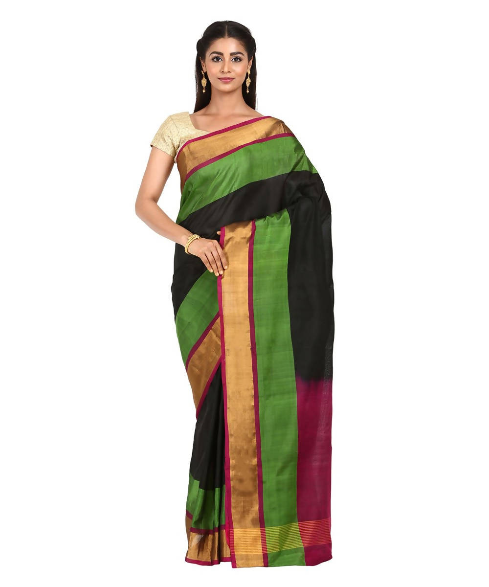 Black Handwoven Uppada Silk Saree