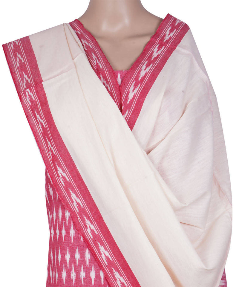Handloom Pochampally Pink Cotton Suit Set