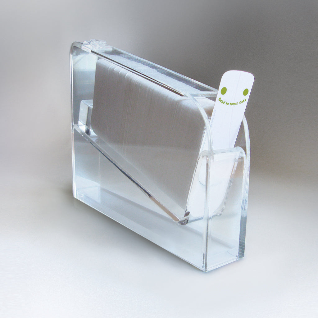Plexi Dispenser: Holds 500 EcoTaster Mini or Mid sampling utensils