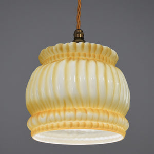 1920s Art deco glass pendant light shade by Hailwood & Ackroyd