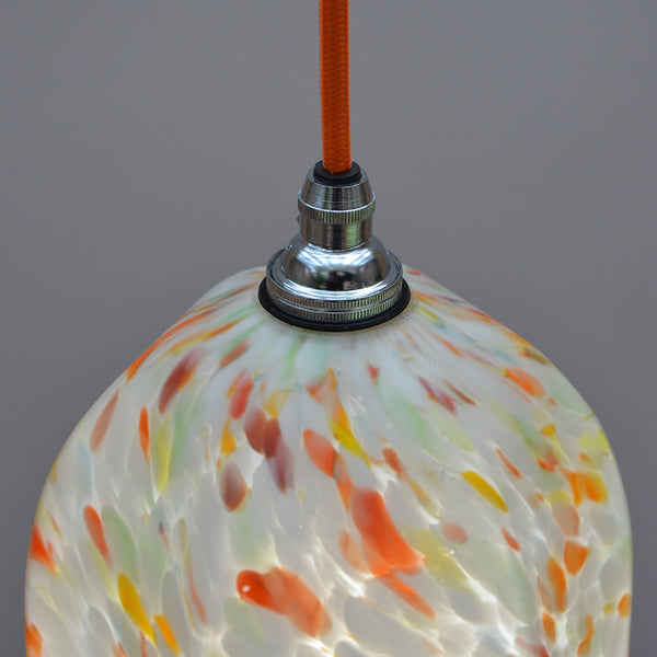1940s Multi colour glass Ceiling Light/Pendant Light