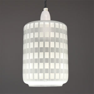 Mid-Century Modern 1960s  Frosted glass ceiling light