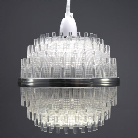 1960s space age clear perspex pendant ceiling light