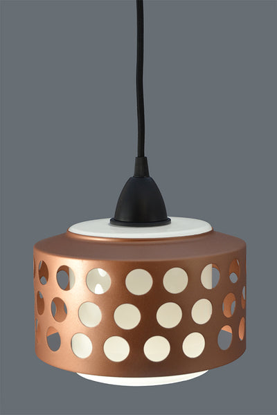 1970s Funky white glass and copper Ceiling Light/Pendant Light