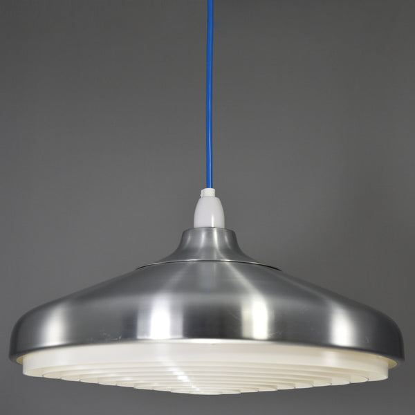 1970s-1980s Danish inspired aluminium ceiling light