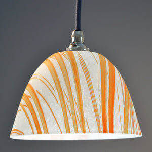 Landlines Pate de verre glass Pendant/Ceiling lights white and orange