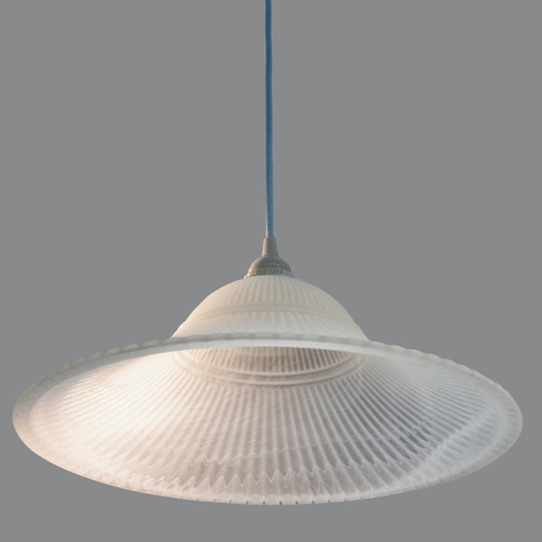 Marbled fluted and sandblasted glass pendant shade/ceiling light