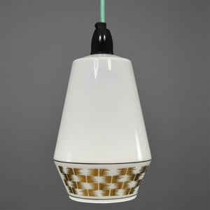 Mid-Century Modern French white glass ceiling light