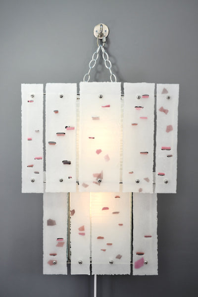 White Abstraction (pink), Plug-in Wall light/Sconce