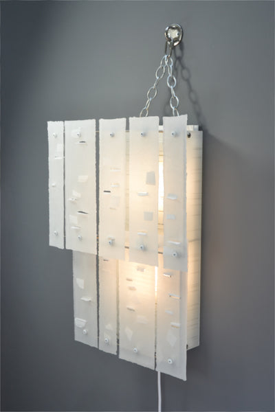 White Abstraction (white), Plug-in Wall light/Sconce