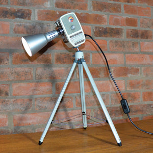 SUPER 8 BUTLINS' TABLE LAMP/DESK LIGHT ❘ Funky unusual designer lighting made from repurposed objects