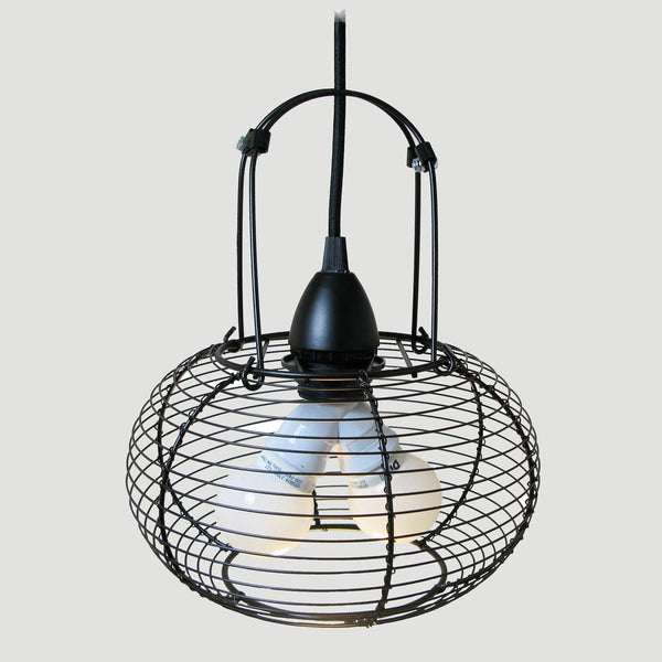 repurposed  'EGG BASKET' PENDANT LIGHT
