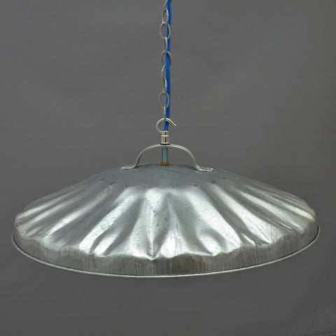 Repurposed galvanised dustbin lid  Ceiling Light/Pendant Light